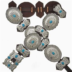 Large Sleeping Beauty Turquoise Silver Navajo