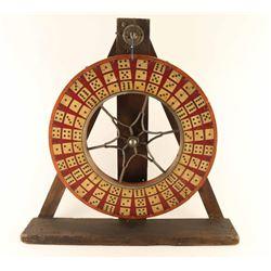 """Rare 1800s-1900's Portable """"Big Wheel of Fortune'"""