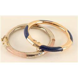 Lot of 2 Asian Bangle Bracelets