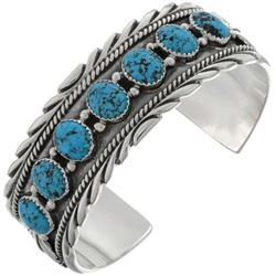 Natural Kingman Spiderweb Turquoise Sterling