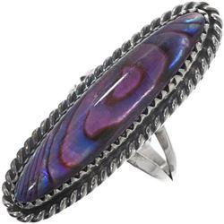 Navajo Purple Paua Shell Sterling Silver Pointer
