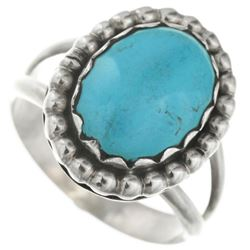 Lot of 2 Navajo Turquoise & Sterling Silver Ladies
