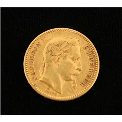 France Gold 20 Francs Napoleon Iii Avg
