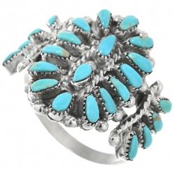 Zuni Petit Point Turquoise Ring Traditional