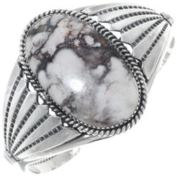 Wild Horse Magnesite Sterling Silver Cuff Bracelet