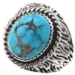 Turquoise Mountain Navajo Men's Ring