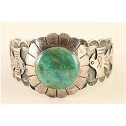 Navajo Sterling & Turquoise Thunderbird Cuff