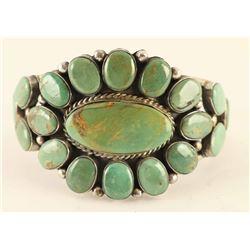 Nevada Turquoise Floral Cluster Bracelet