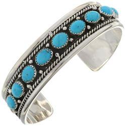 Natural Kingman Turquoise Sterling Silver Navajo