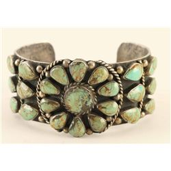 Sterling & Turquoise Cluster Cuff