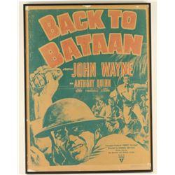 "Original John Wayne ""Back to Bataan"" Movie Poster"
