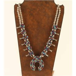 Double Sided Squash Blossom Necklace