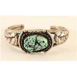 Sterling & Natural Nugget Turquoise Cuff