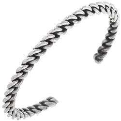 Navajo Interlocking Twist Wire Sterling Silver