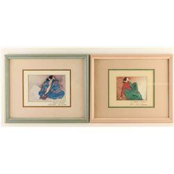 Pair of Custom Framed R.C. Gorman Prints