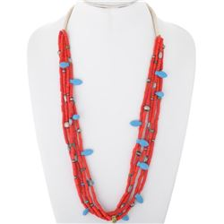 Old Native American Beaded Squaw Wrap Five Strand