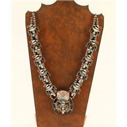 Zuni Thunderbird Squash Blossom Necklace