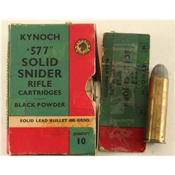 "557"" Solid Snider Rifle Ammo"