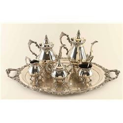 Wallace Brothers Baroque 6 Piece Silvered Tea