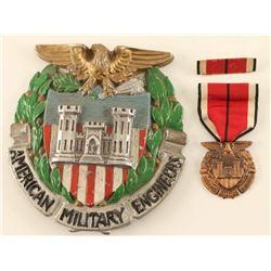 WWI American Military Engineers Emblem & Medal