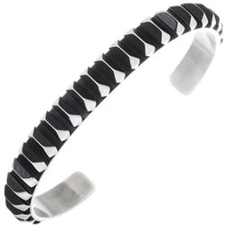 Native American Sterling Silver Studded Cuff