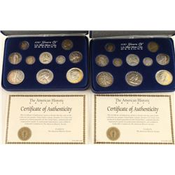 Lot of Two 100 Years of Silver Coins Sets