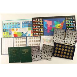 Large Collection of Quarters in Books