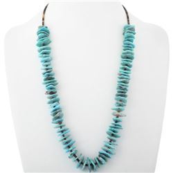 Natural Turquoise Nugget Santo Domingo Beaded