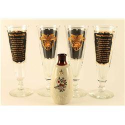 Lot of 4 Westpoint Beer Glasses