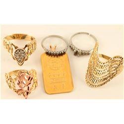 Lot of 4 Ladies Rings & Pendant