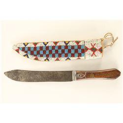Beaded Sioux Sheath & Knife