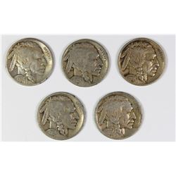 GROUP OF BUFFALO NICKELS