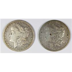 1886-O AND 1886-S MORGAN SILVER DOLLARS