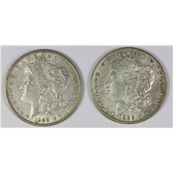 1888 AND 1888-O MORGAN SILVER DOLLARS