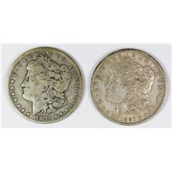 1891 AND 1891-O MORGAN SILVER DOLLARS