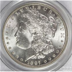 1887 MORGAN SILVER DOLLAR