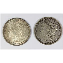 1896 AND 1896-O MORGAN SILVER DOLLAR