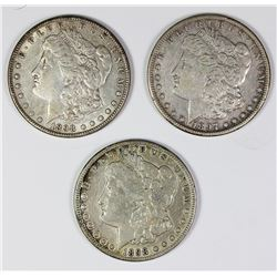 (3) MORGAN SILVER DOLLARS