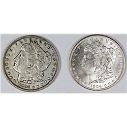 1904 AND 1904-O MORGAN SILVER DOLLARS