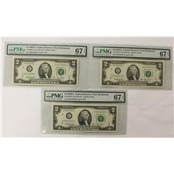 (3) 2003-A $2.00 RICHMOND FEDERAL RESERVE NOTES