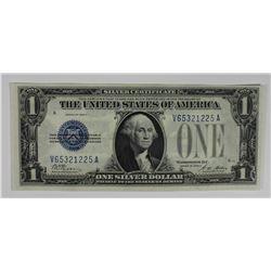 "1928A $1.00 SILVER CERT ""FUNNY BACK"" GEM UNC"