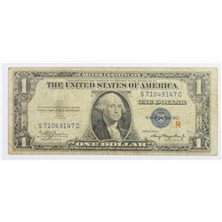 "1953-A  $1.00 SILVER CERTIFICATE ""R"" EXPERIMENTAL"