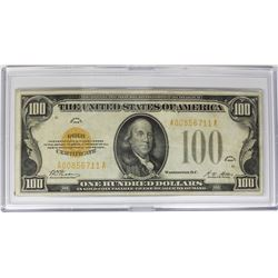 1928 $100.00 GOLD NOTE