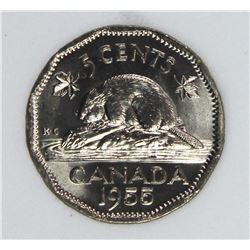 1955 CANADA NICKEL