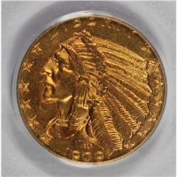 1909-D $5.00 GOLD INDIAN