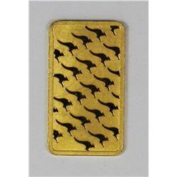 1 GRAM GOLD BAR .999