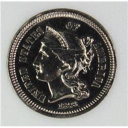 1873 THREE CENT NICKEL