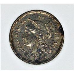 1880 THREE CENT NICKEL