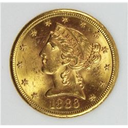 1886-S $5.00 GOLD