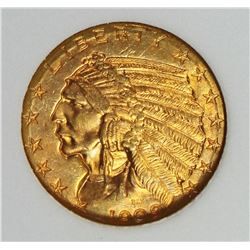 1909-D $5.00 INDIAN GOLD